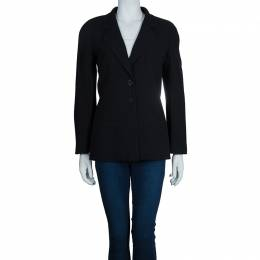 Chanel Black Wool Jacket M 54139
