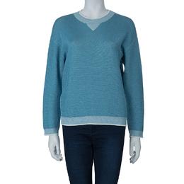 Sonia Rykiel Blue Shimmer Sweater S 56398