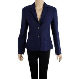 Diane Von Furstenberg Purple School Boy Blazer S