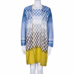 Missoni Multicolor Knit Zig Zag Dress and Cardigan Set M 3588