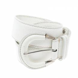 Tod's White Leather Belt 95 CM 163038