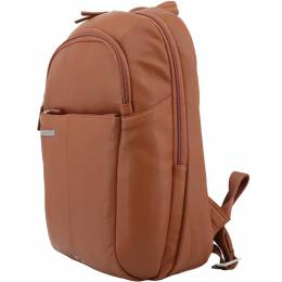 Piquadro Brown Leather Backpack