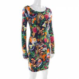 Matthew Williamson Multicolor Tropical Printed Jersey Bodycon Dress S 177139