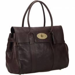 Mulbery Dark BrownLeather Bayswater Shoulder Bag Mulberry 134551