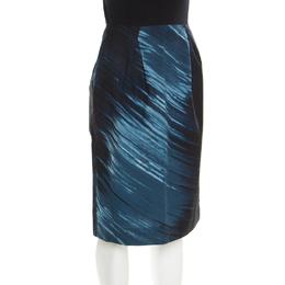 Marni Indigo Printed Cotton Skirt S 184180