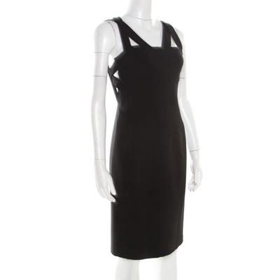 Just Cavalli Black Knit Cutout Back Detail Sleeveless Midi Dress S 186108 - 1