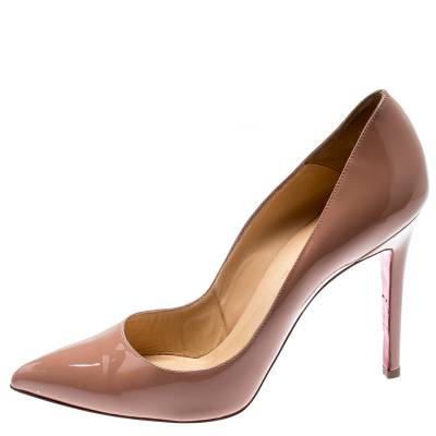 Christian Louboutin Beige Patent Leather So Kate Pumps Size 39.5 188516 - 1