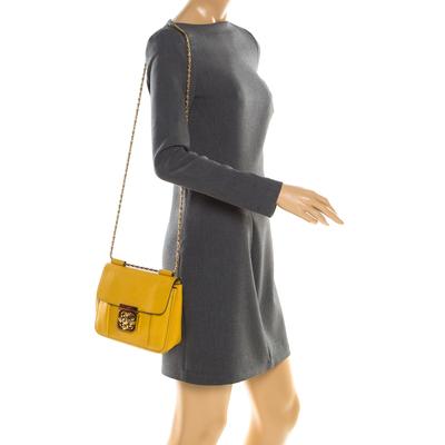 Chloe Mustard Leather Small Elsie Shoulder Bag 187023 - 1