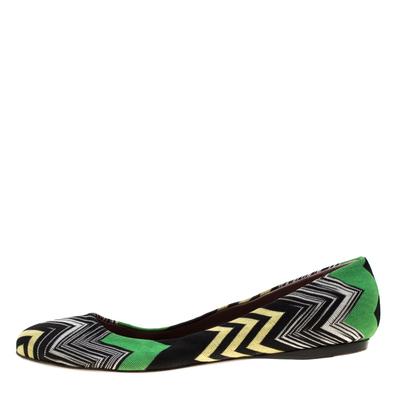 Missoni Multicolor Knit Ballet Flats Size 41 186847 - 1