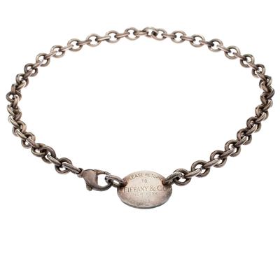 Tiffany & Co. Return to Tiffany Oval Tag Silver Choker Necklace Tiffany & Co. 187216 - 2
