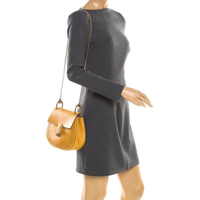 Chloe Mustard Leather Medium Drew Shoulder Bag 187167 - 2
