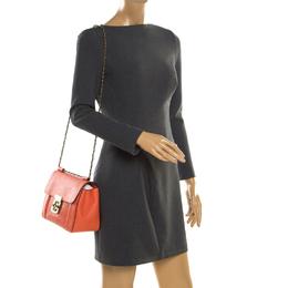 Chloe Coral Orange Leather Medium Elsie Shoulder Bag 187185