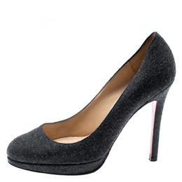 Christian Louboutin Grey Wool Pumps Size 35.5 193275