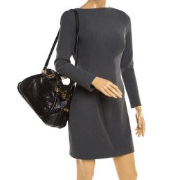 Chloe Black Python and Leather Medium Paraty Shoulder Bag 193023