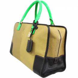 Loewe Brown Leather Amazona Everyday Bag 188178