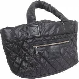 Chanel Black Quilted Nylon Coco Cocoon Hobo Bag 188727