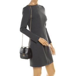 Valentino Black Leather Small Glam Lock Flap Bag 194012