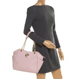 MICHAEL Michael Kors Blush Pink Leather Jet Set Travel Chain Shoulder Bag 194728