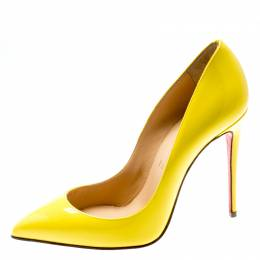 Christian Louboutin Yellow Patent Leather So Kate Pointed Toe Pumps Size 36 195450