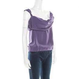 Vivienne Westwood Red Label Purple Draped Sleeveless Top S 183085
