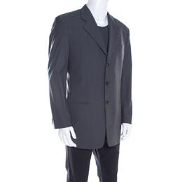 Armani Collezioni Grey Wool Tailored Blazer L 198458