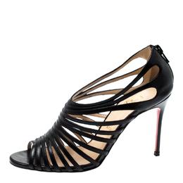 Christian Louboutin Black Leather Mul Tibrida Strappy Sandals Size 37
