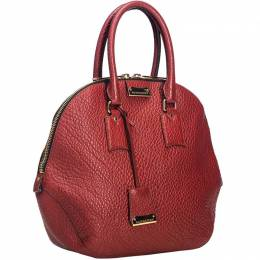 Burberry Red Grained Leather Orchard Satchel Bag 193859