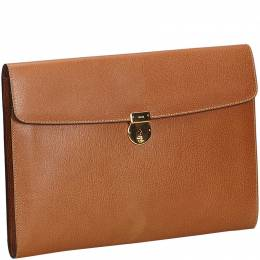 Gucci Brown Leather Clutch Bag 186409