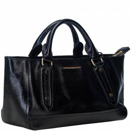Burberry Black Leather Somerford Tote Bag 186449