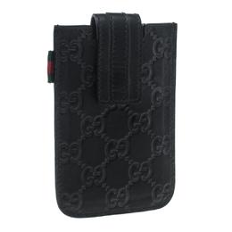 Gucci Black Guccissima Leather iPhone 4/4s Case