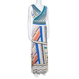 Missoni Multicolor Striped Knit Sleeveless Maxi Dress L 153565