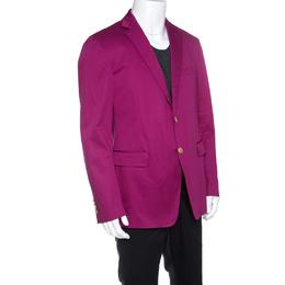 Etro Pink Cotton Mineide Soft Blazer L 148627