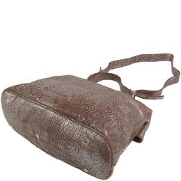 Bvlgari Metallic Brown Pebbled Leather Leoni Bag