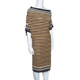 Missoni Multicolor Patterened Knit Off Shoulder Dress M 143700