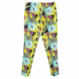 Etro Multicolor Floral Printed Cotton Trousers S 121374