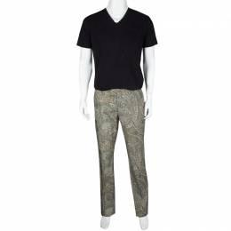 Etro Multicolor Paisley Printed Cotton Trousers L 119118