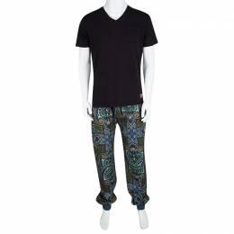Etro Multicolor Paisley Printed Jersey Jogger Pants 3XL 106831