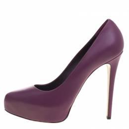 Le Silla Purple Leather Platform Pumps Size 38 99010