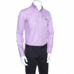 Ralph Lauren Lavender Cotton Logo Embroidered Button Down Shirt S 158823