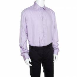Ralph Lauren Lavender Micro Dot Cotton Long Sleeve Button Front Shirt 3XL 159713