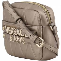 Versace Jeans Brown Faux Quilted Leather Crossbody Bag