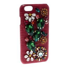 Dolce&Gabbana Red Floral Crystal Embellished iPhone 6 Case