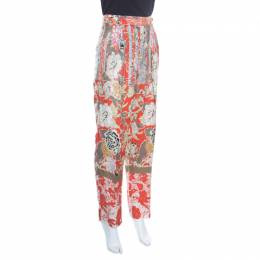 Etro Multicolor Floral Print High Waist Tapered Trousers M 163746