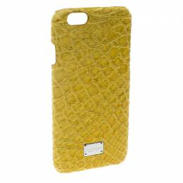 Dolce&Gabbana Yellow Croc Embossed iPhone 6/6S Case