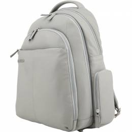 Piquadro Grey Leather Backpack