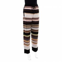 Missoni Multicolor Patterned Knit Drawstring Detail Pants M 171979