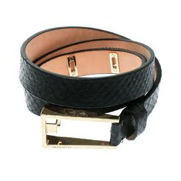Dsquared2 Black Python Belt Size 90 CM 175532