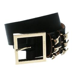 Dsquared2 Black Satin Buckle Belt Size 85 CM 175556