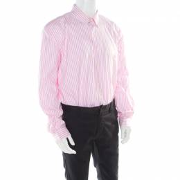 Ralph Lauren Pink Striped Cotton Logo Embroidered Oxford Shirt 2XB 177492