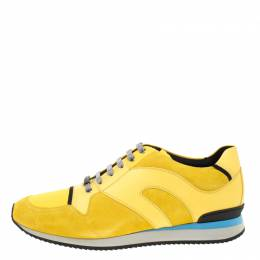 Dior Homme Yellow Suede And Leather Platform Sneakers Size 45 180307